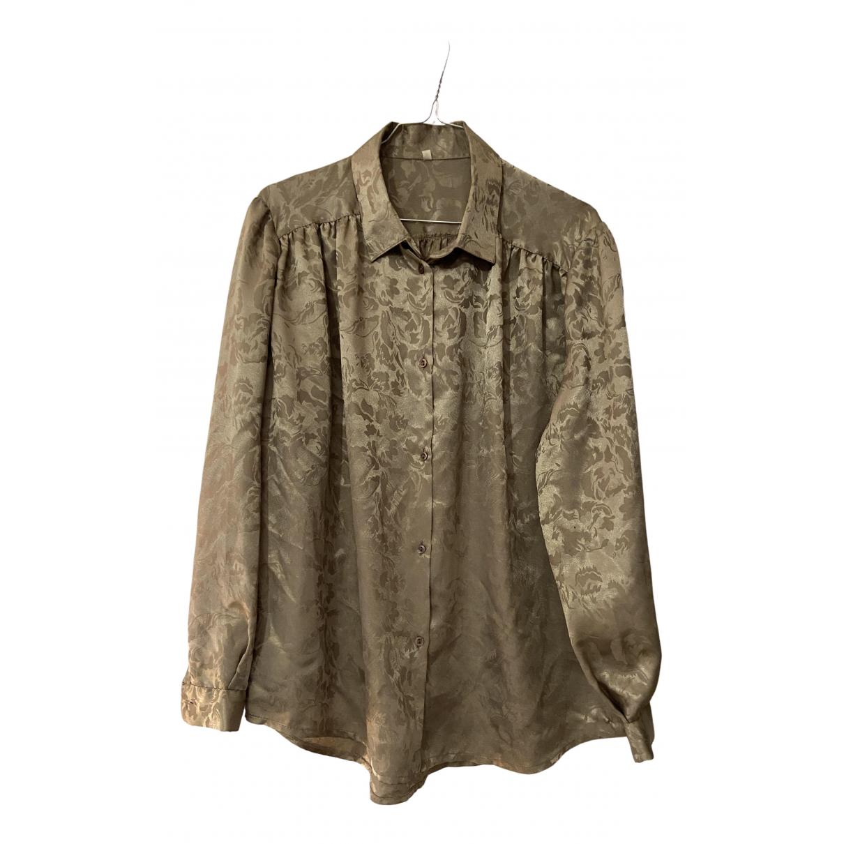 - Top   pour femme en soie - gris