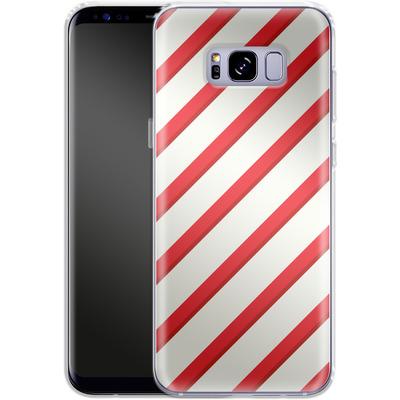 Samsung Galaxy S8 Plus Silikon Handyhuelle - Candy Cane von caseable Specials