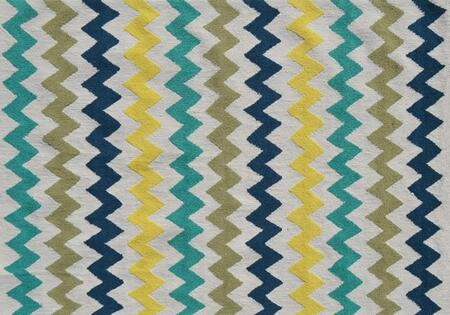 PA0108D 5 x 7 ft. Chevron Area Rug  in