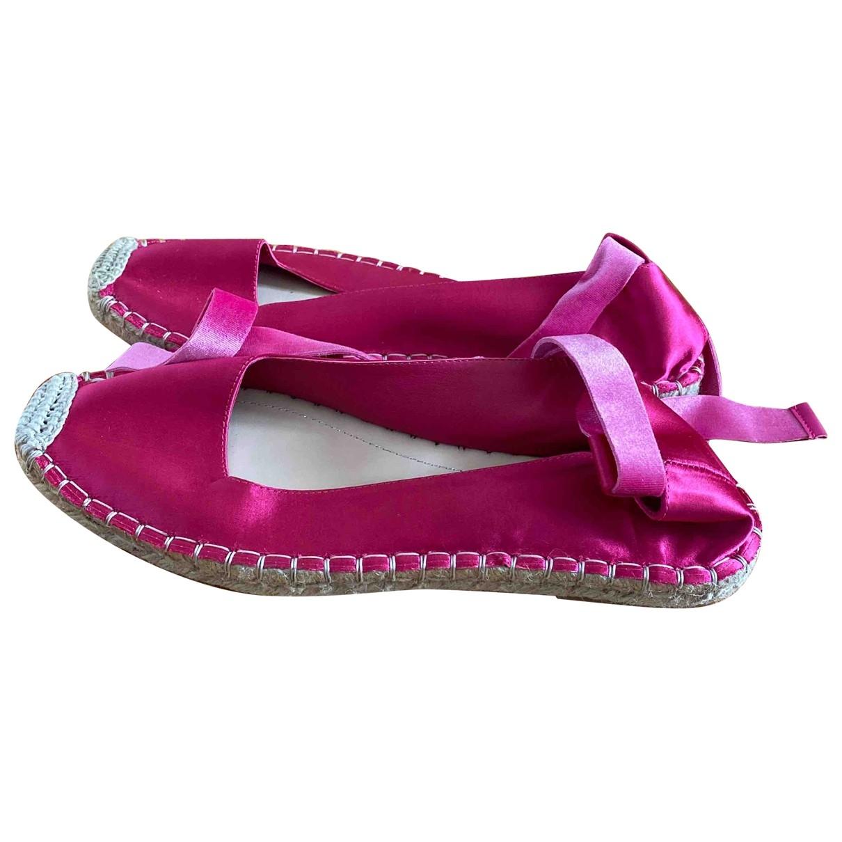 Zara - Espadrilles   pour femme en a paillettes - rose