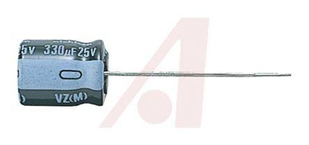 Nichicon 100μF Electrolytic Capacitor 63V dc, Through Hole - UVZ1J101MPD