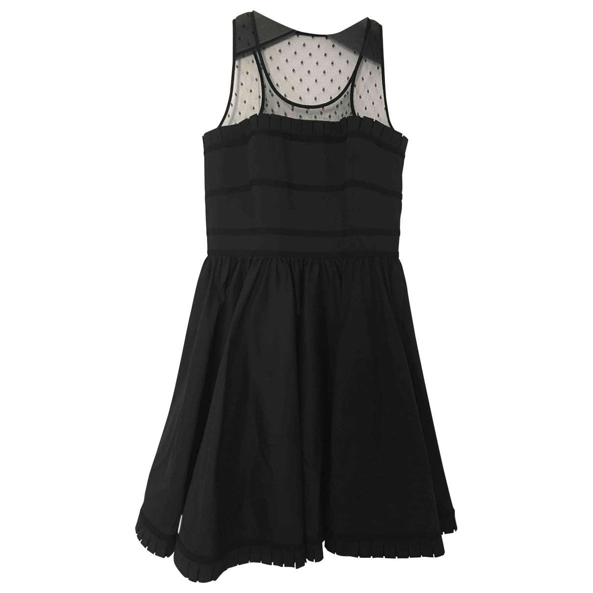 Red Valentino Garavani \N Black Cotton dress for Women 42 IT