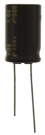 Panasonic 1000μF Electrolytic Capacitor 50V dc, Through Hole - EEUFM1H102 (5)