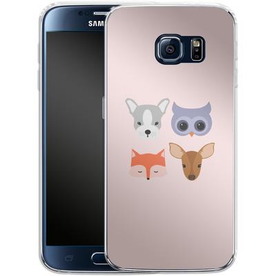 Samsung Galaxy S6 Silikon Handyhuelle - Animal Friends on Pink von caseable Designs