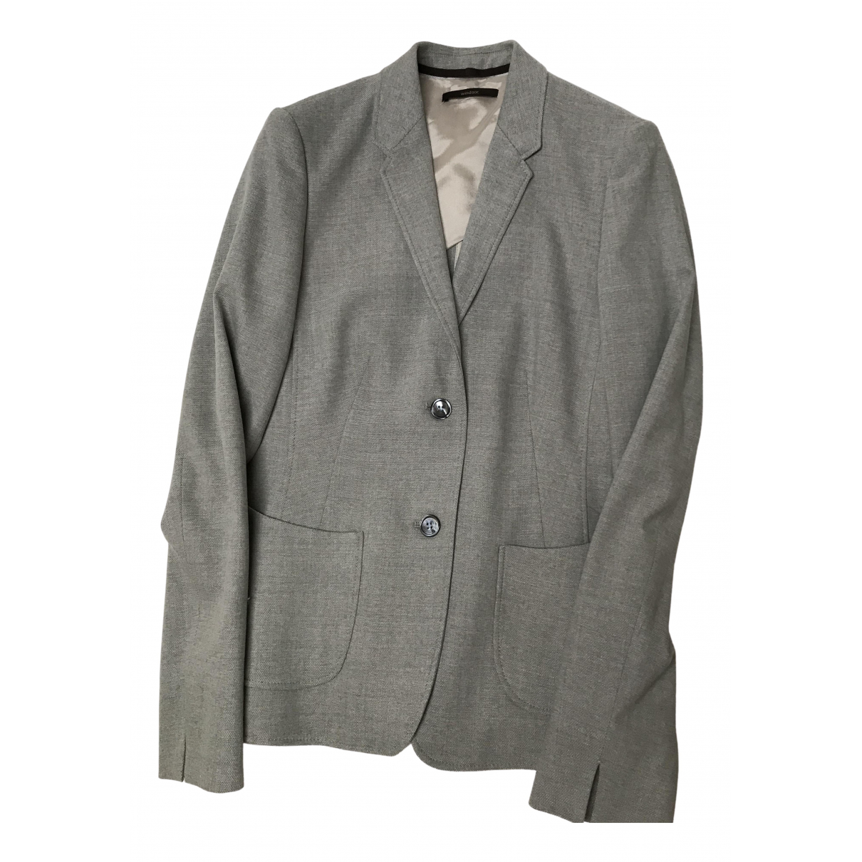 Windsor - Veste   pour femme en laine - gris
