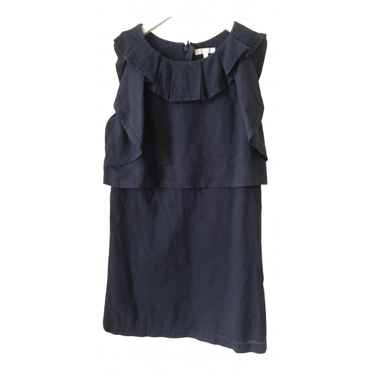Chloe \N Kleid in  Marine Baumwolle