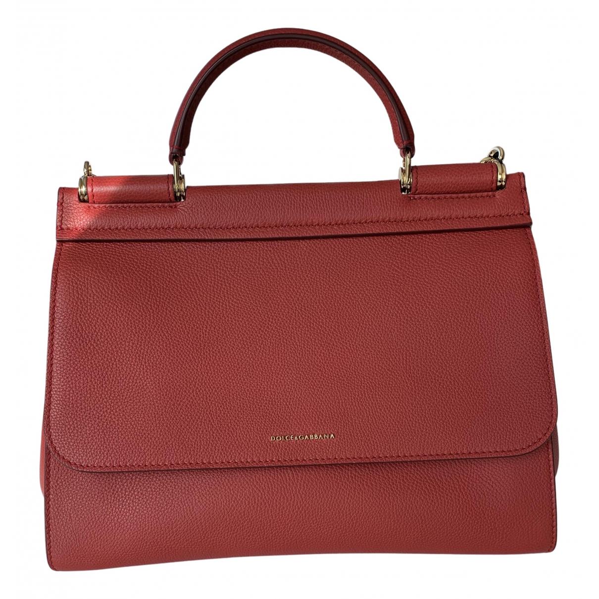 Dolce & Gabbana Sicily Red Leather handbag for Women N