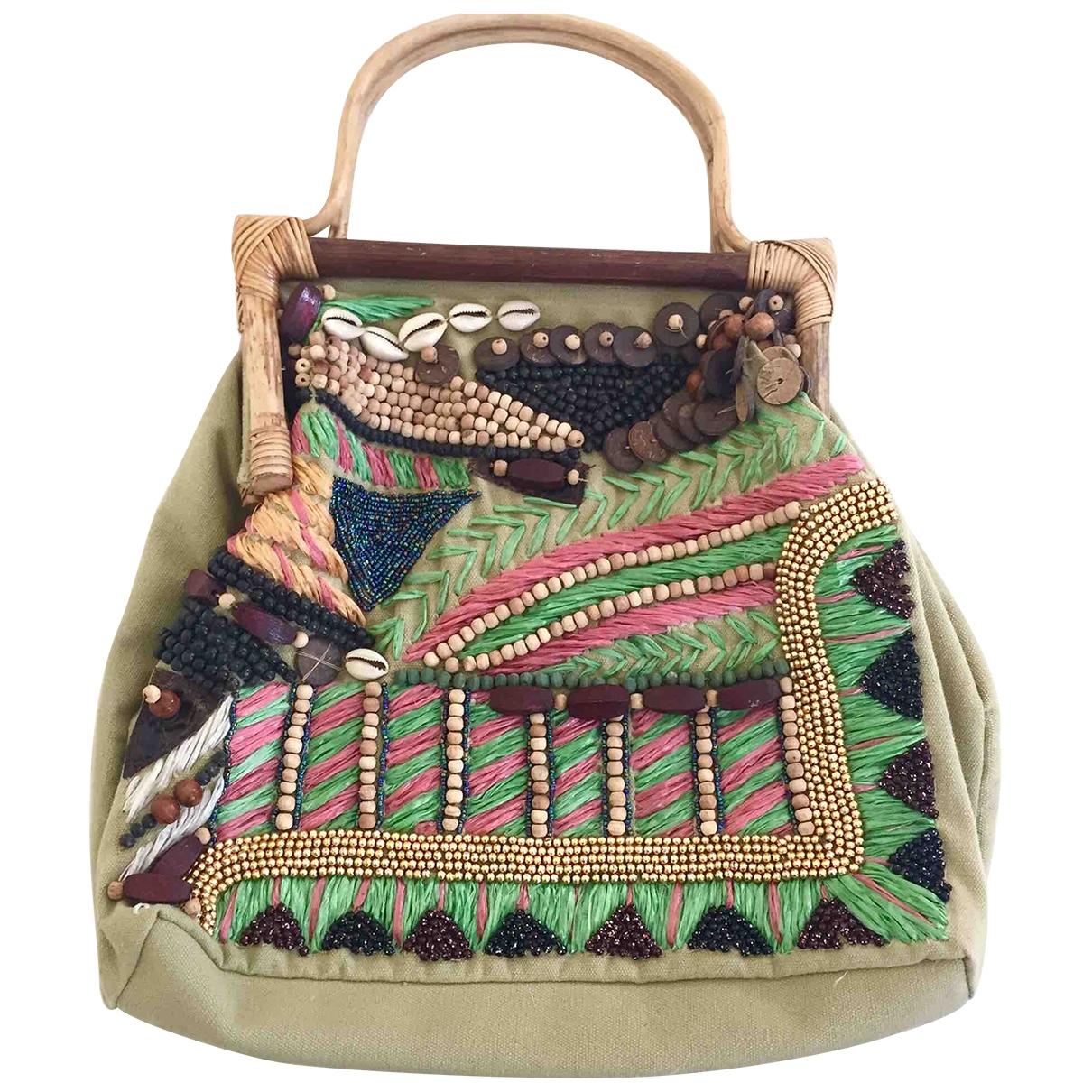 Adolfo Dominguez \N Handtasche in  Gruen Baumwolle