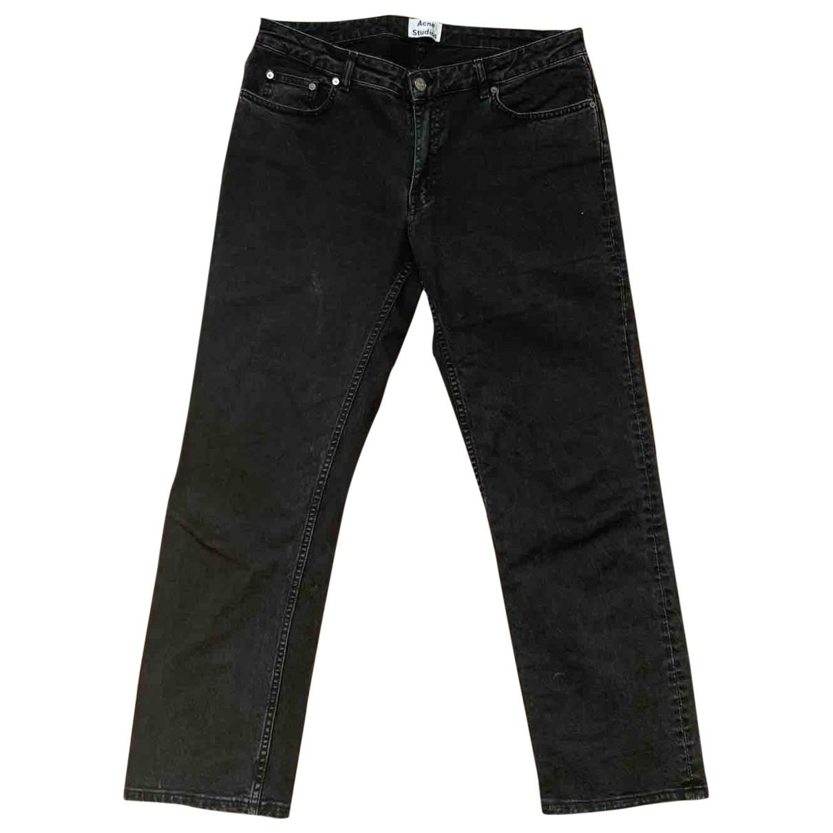 Acne Studios Row Black Cotton - elasthane Jeans for Women 42 FR