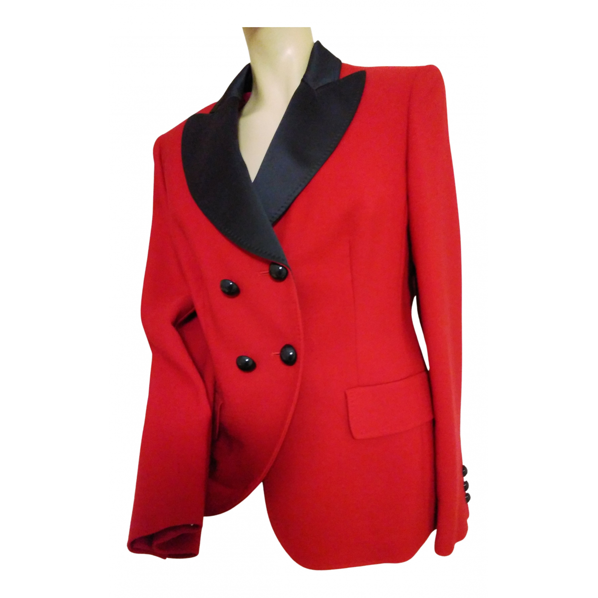 Moschino Cheap And Chic N Red Wool jacket for Women 46 IT