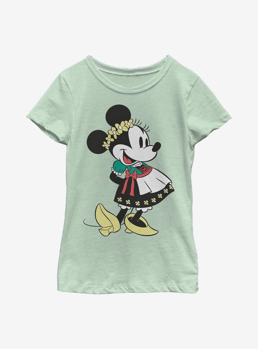 Disney Minnie Mouse Dirndl Basics Youth Girls T-Shirt