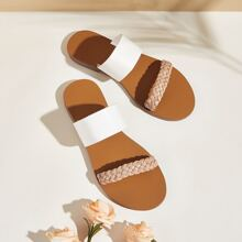 Braided Double Strap Sliders