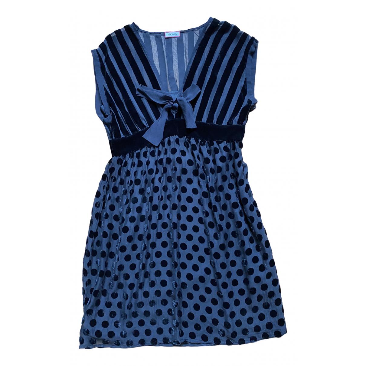 Max & Co \N Kleid in  Schwarz Samt