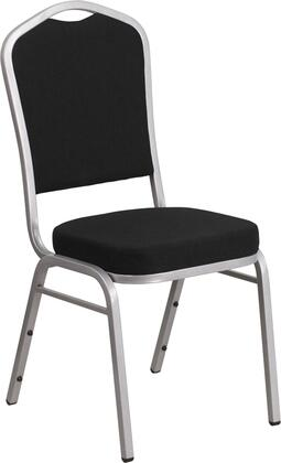 Hercules FD-C01-S-11-GG 38 Banquet Chair with Crown Back Design  Fabric Upholstery  Seamless Back Panel and Double Support Braces in