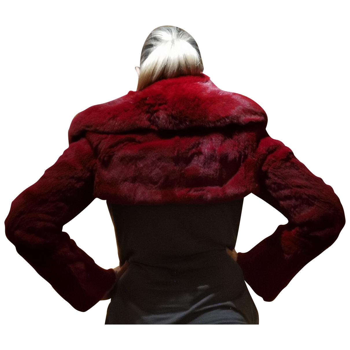 Sonia Rykiel - Blouson   pour femme en renard - rouge