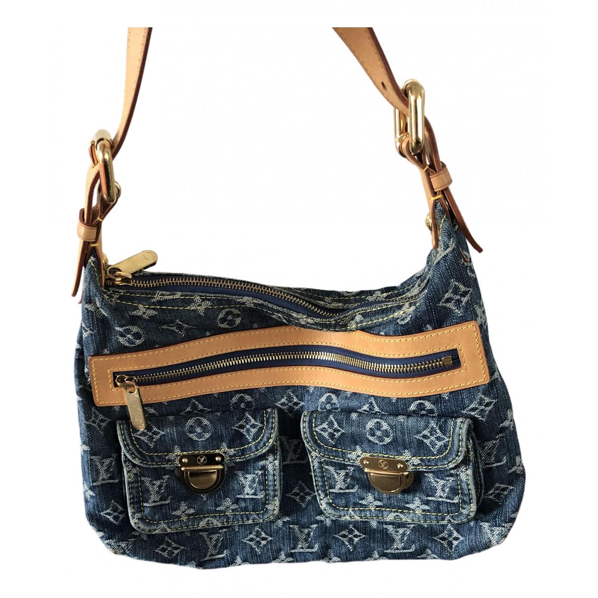 Louis Vuitton - Sac a main Baggy pour femme en denim - bleu