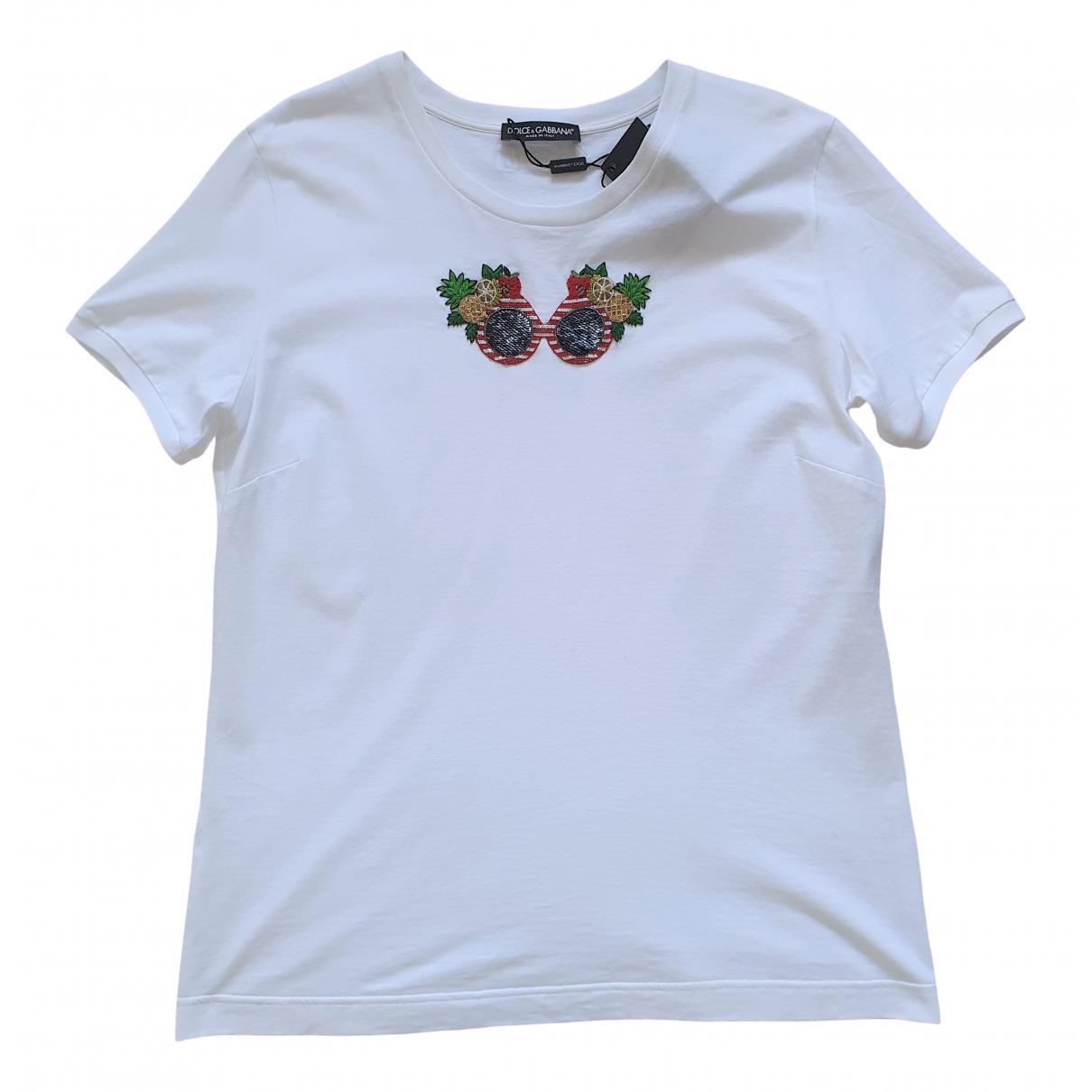 Dolce & Gabbana \N White Cotton  top for Women 48 IT