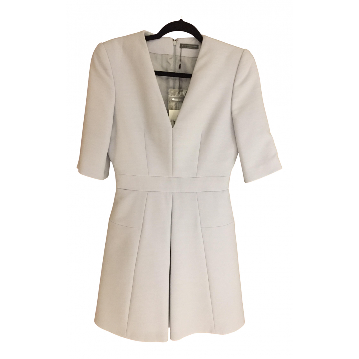 Alexander Mcqueen - Robe   pour femme en laine - beige