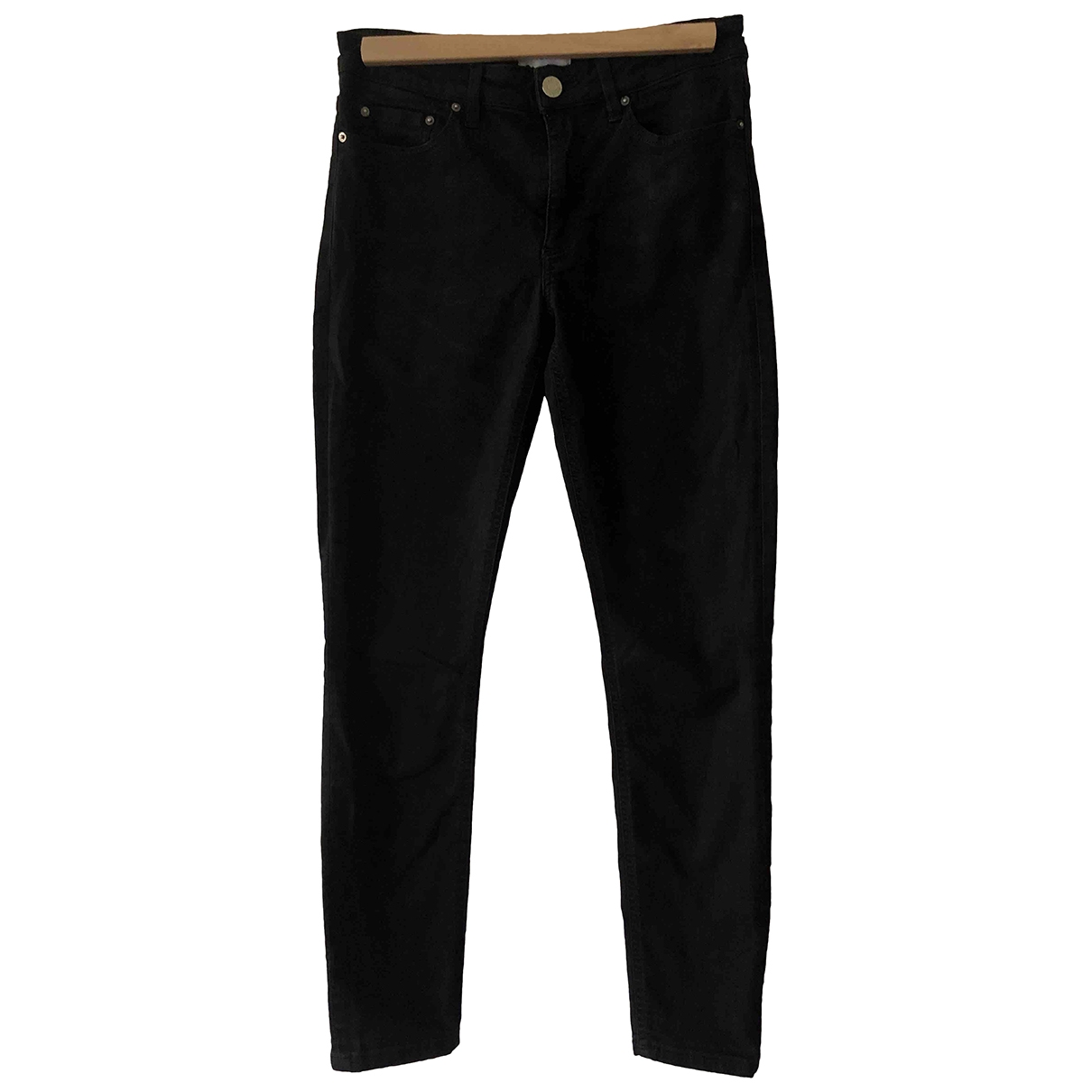 Acne Studios Skin 5 Black Cotton - elasthane Jeans for Women 36 FR