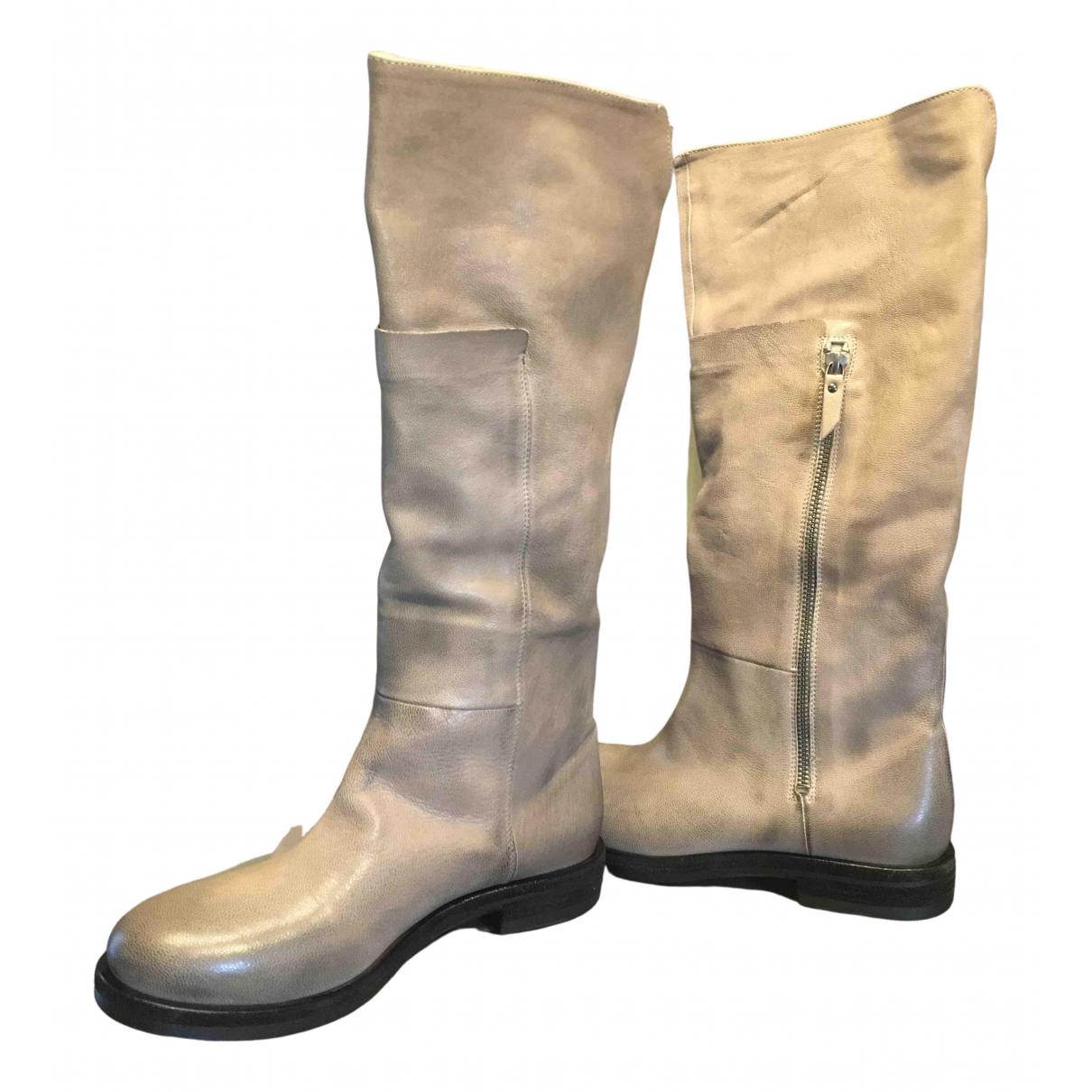 Vic Matie - Bottes   pour femme en cuir - gris