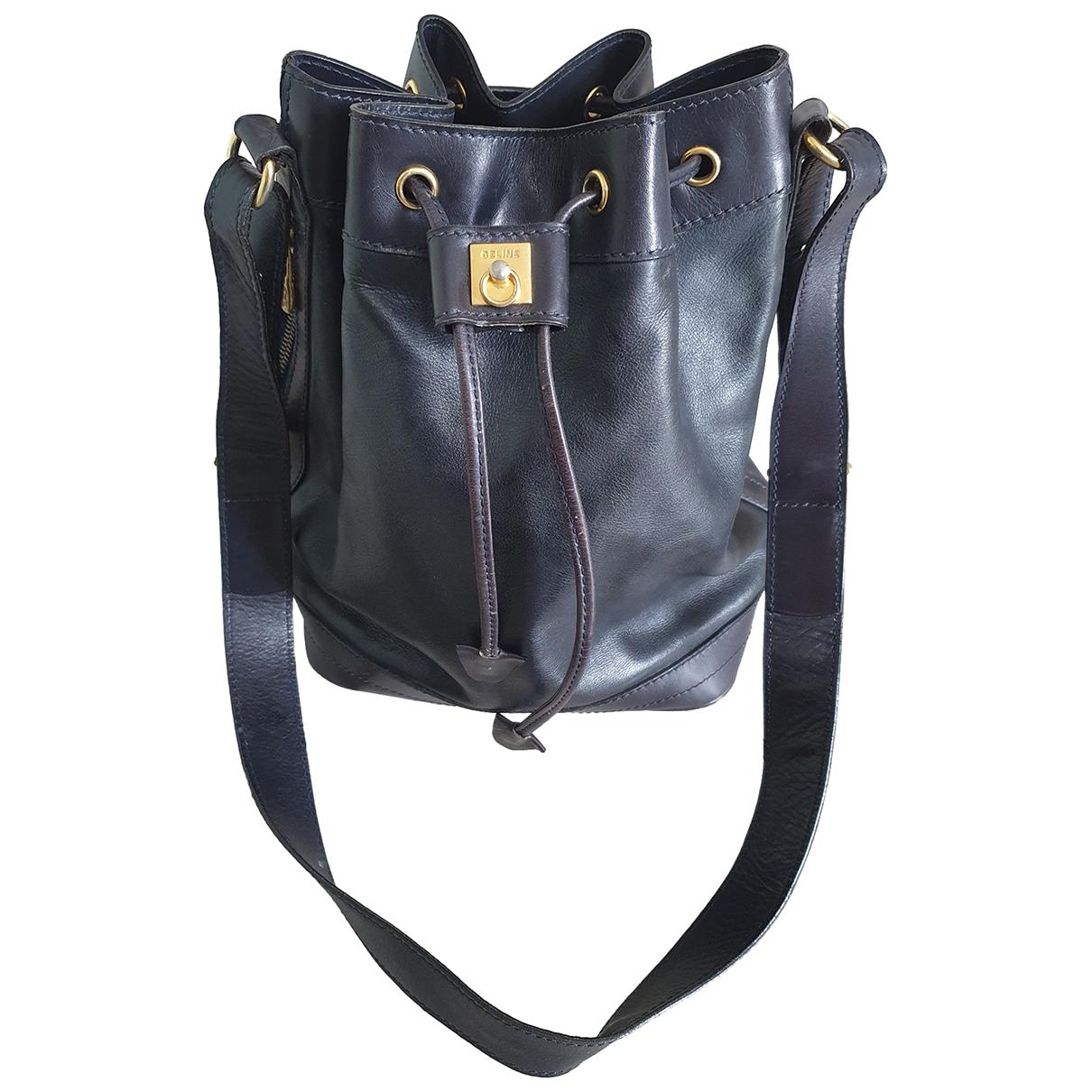 Celine \N Navy Leather handbag for Women \N