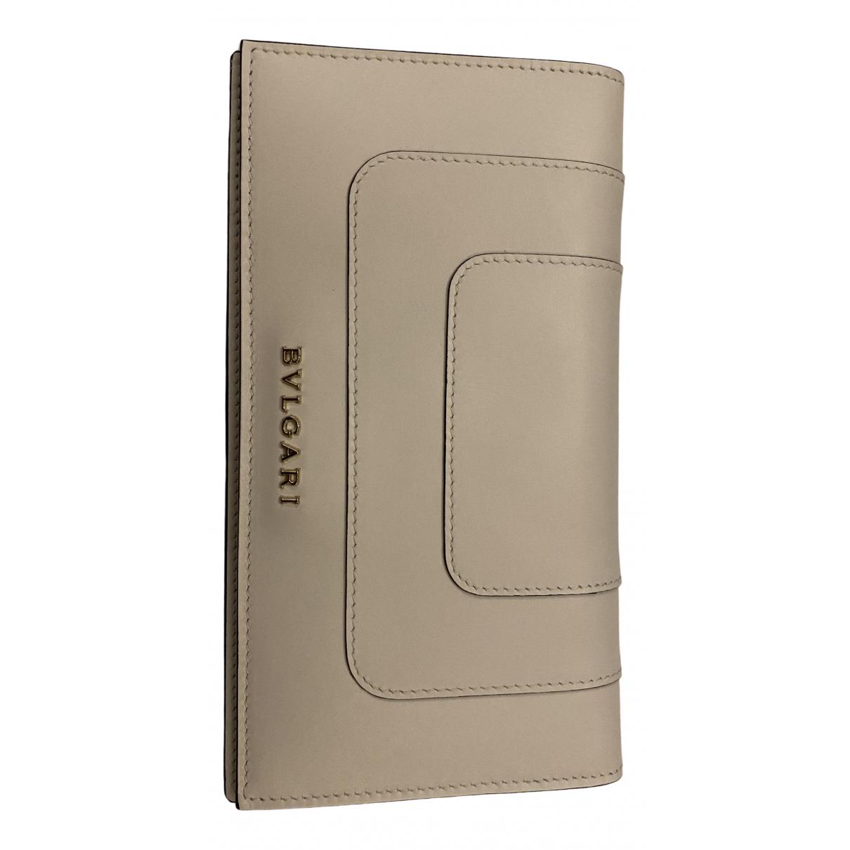 Bvlgari \N White Leather wallet for Women \N