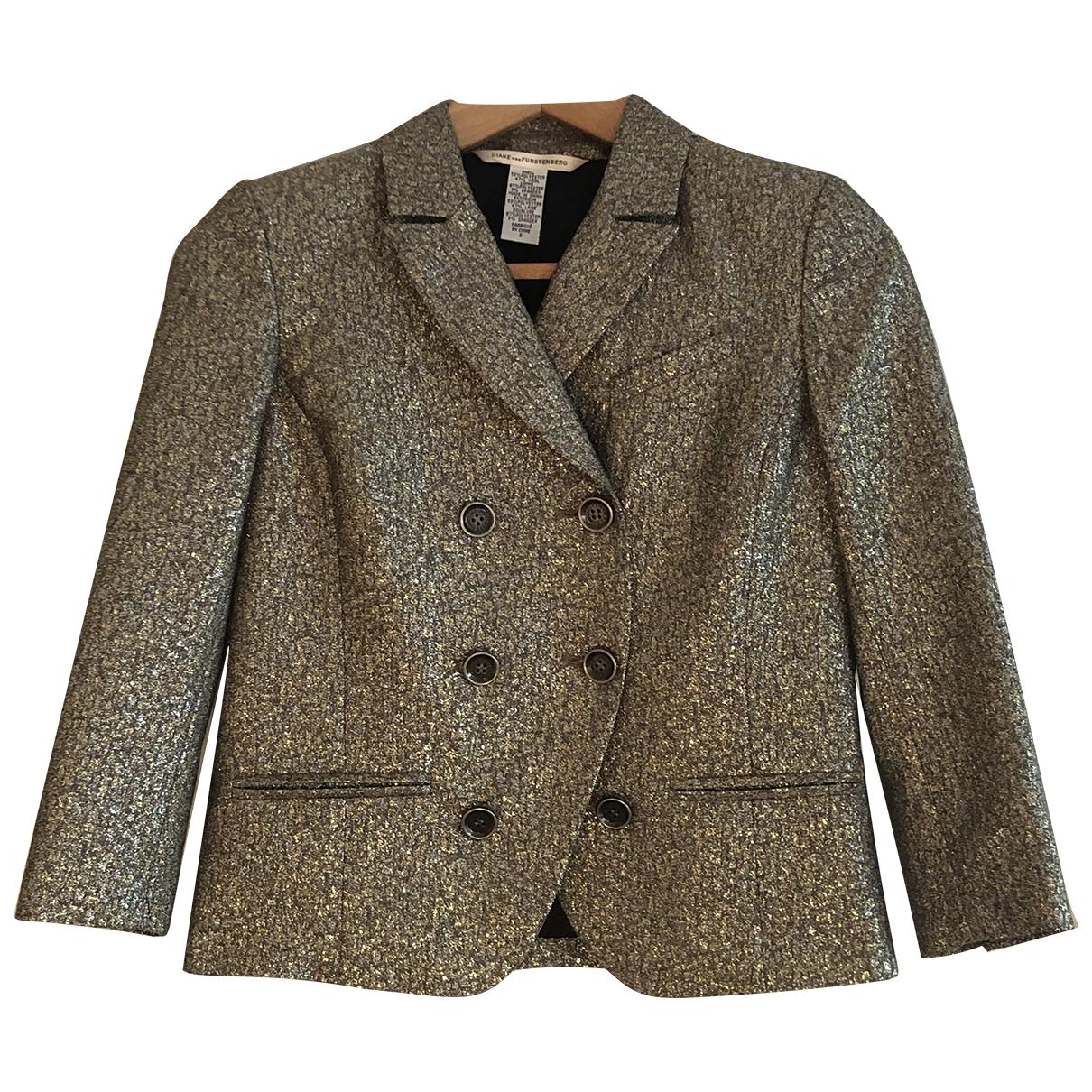 Diane Von Furstenberg - Veste   pour femme en laine - metallise