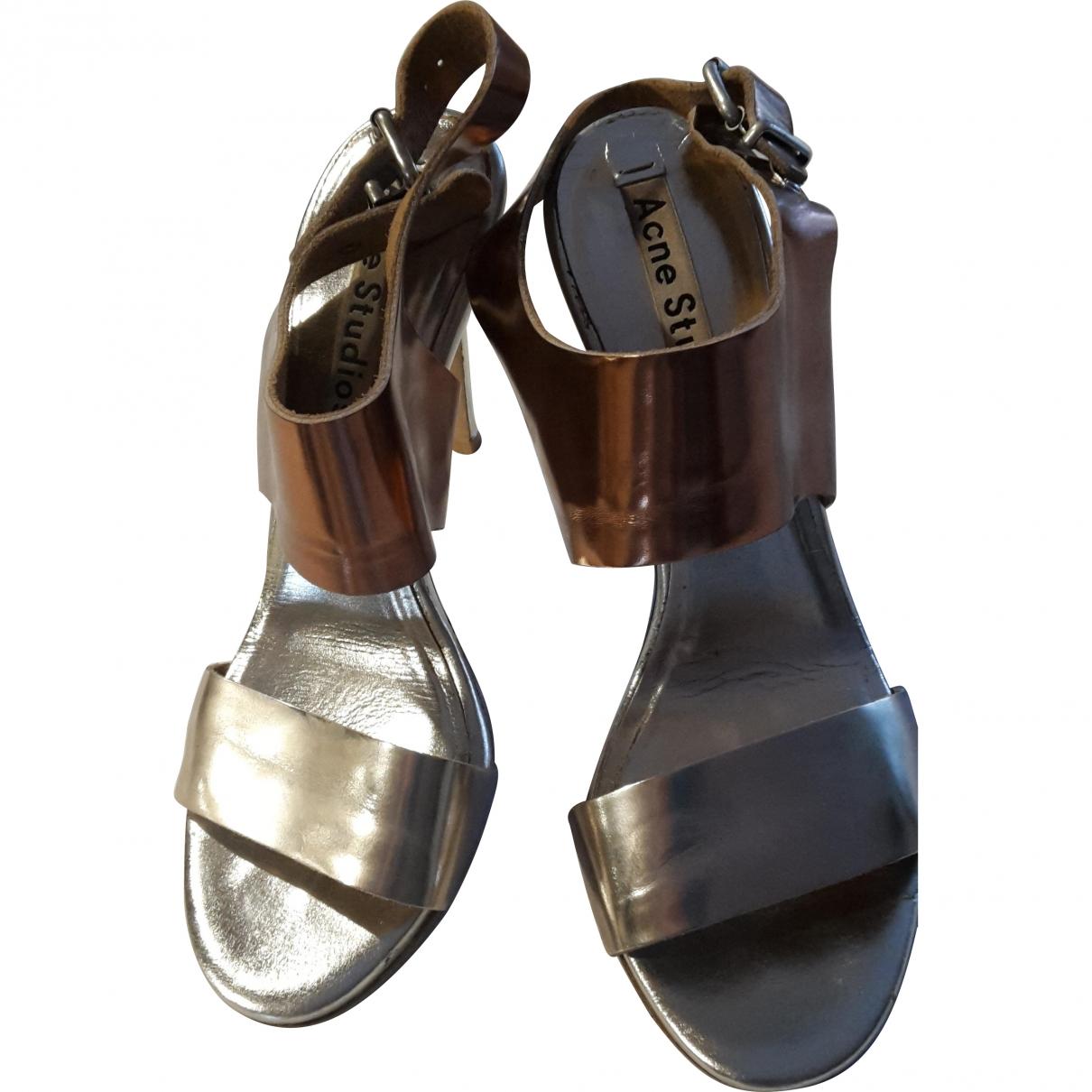 Acne Studios \N Metallic Leather Sandals for Women 40 EU