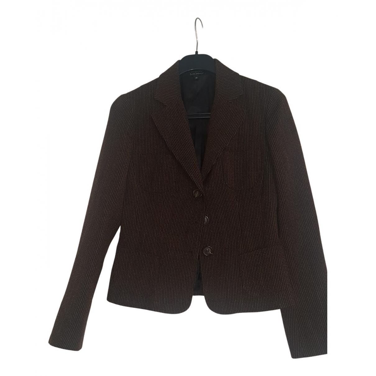 Tara Jarmon - Veste   pour femme en laine - marron