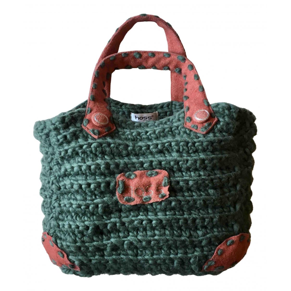 Hoss Intropia \N Handtasche in  Gruen Wolle