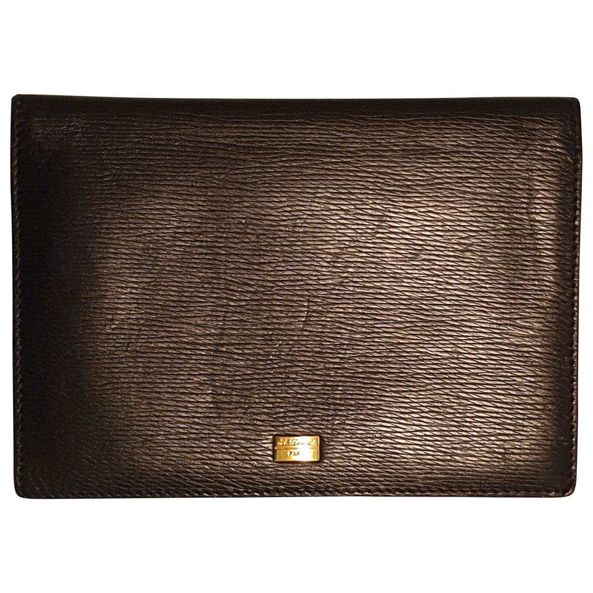 S.t. Dupont \N Black Leather Small bag, wallet & cases for Men \N