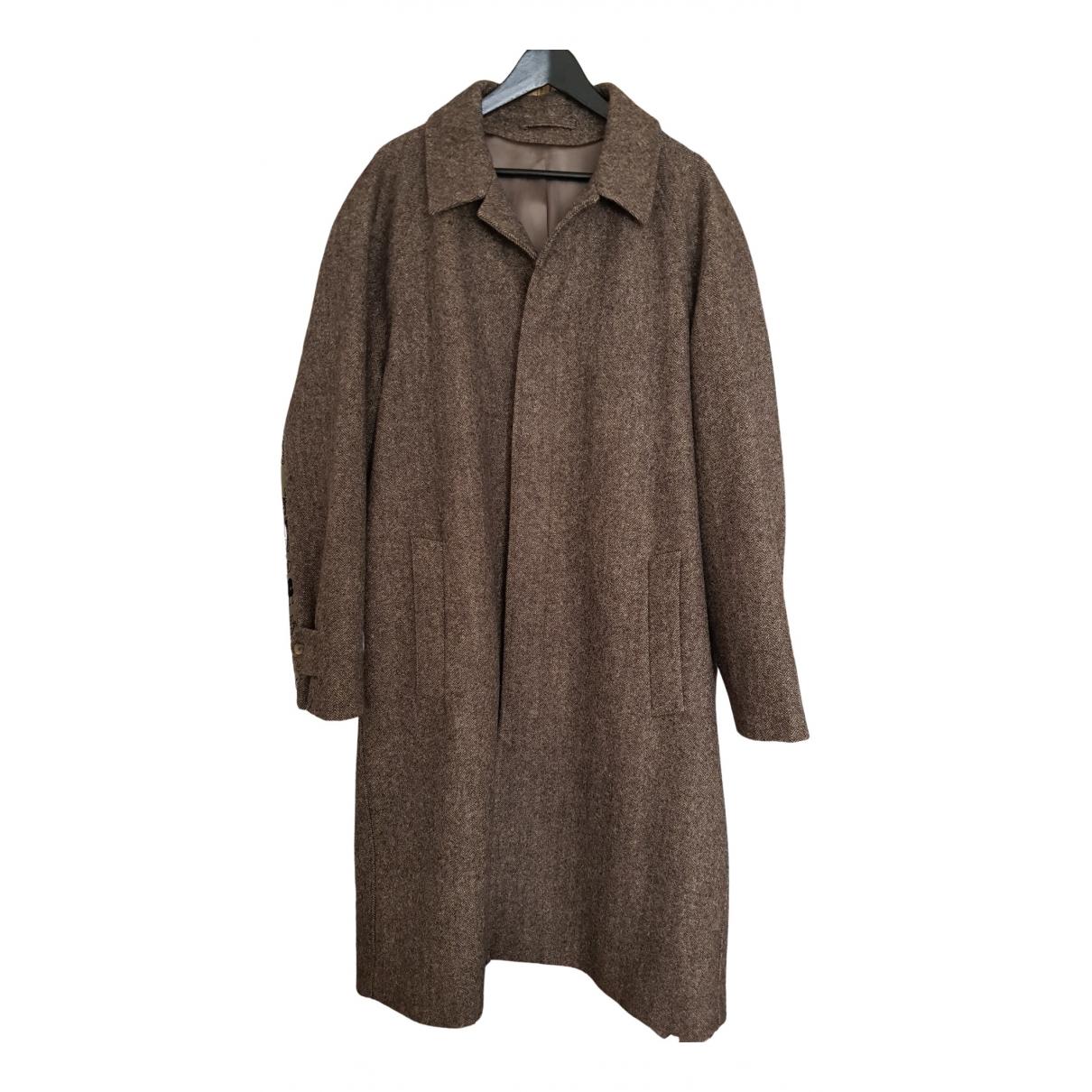 De Bonne Facture - Manteau   pour homme en laine - marron