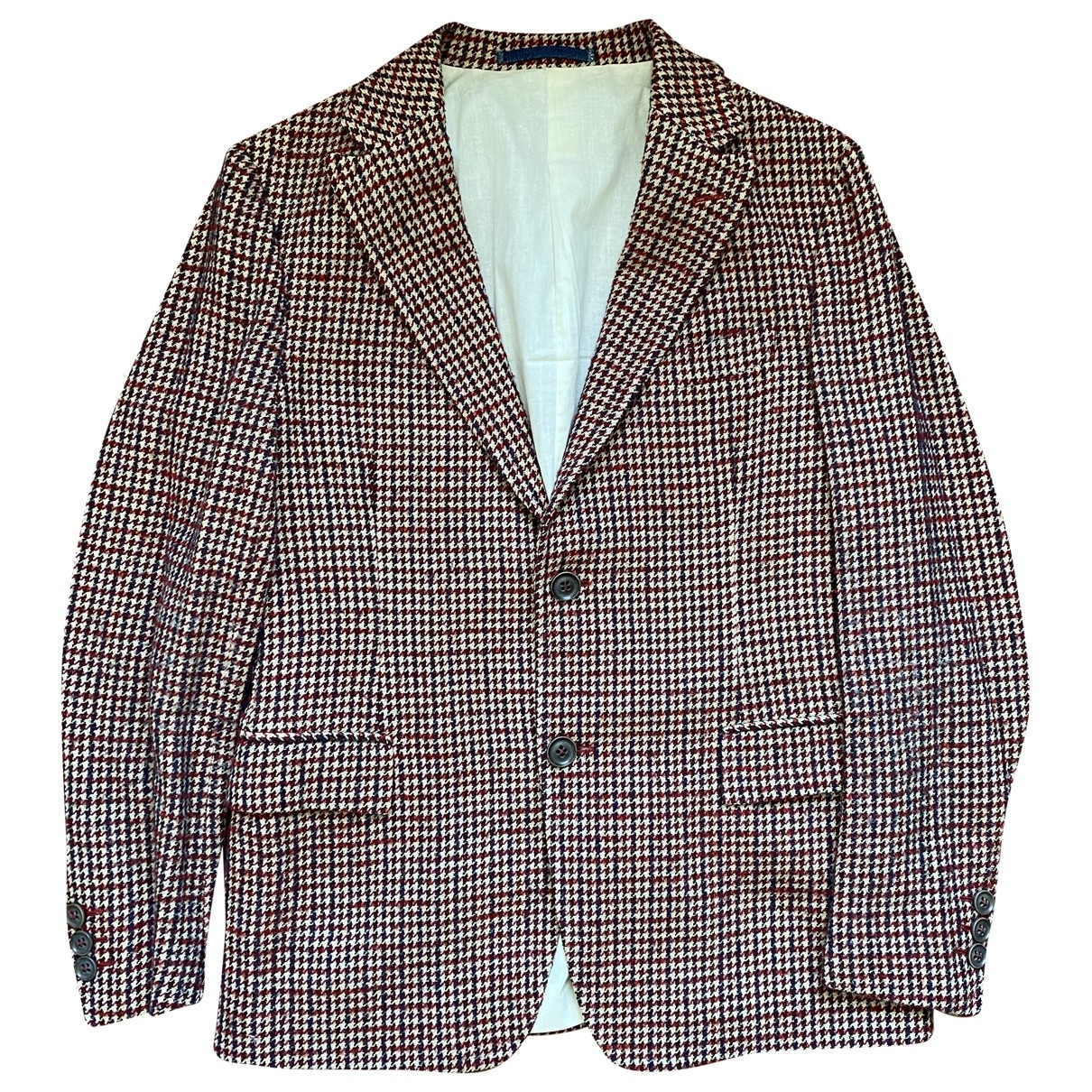 Non Signé / Unsigned \N Multicolour Tweed jacket  for Men 50 IT