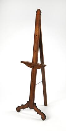 Brooklyn Collection 3658001 Easel with Traditional Style and Poplar Hardwood Solids in Vintage Oak