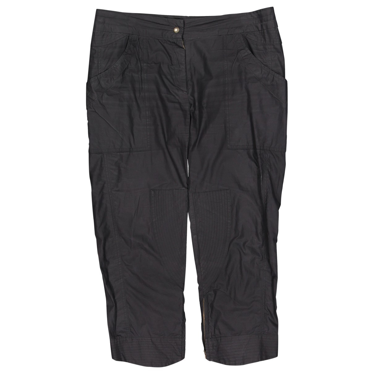 Isabel Marant \N Black Cotton Trousers for Women 3 0-5