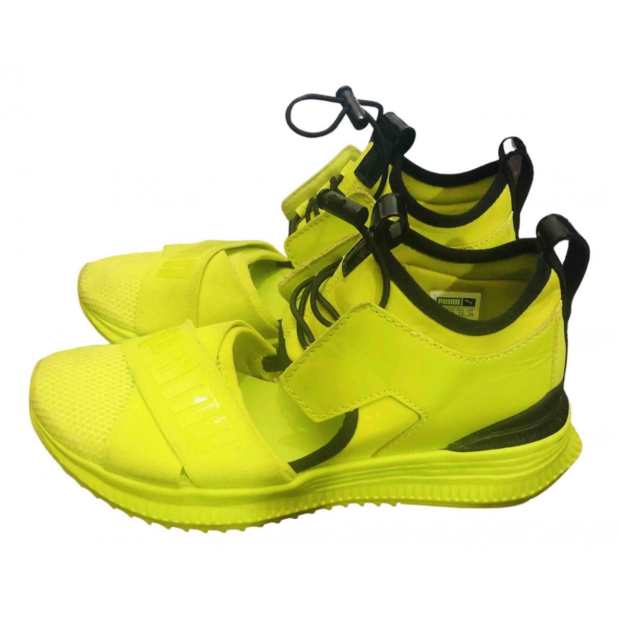 Fenty X Puma - Baskets   pour femme en toile - jaune