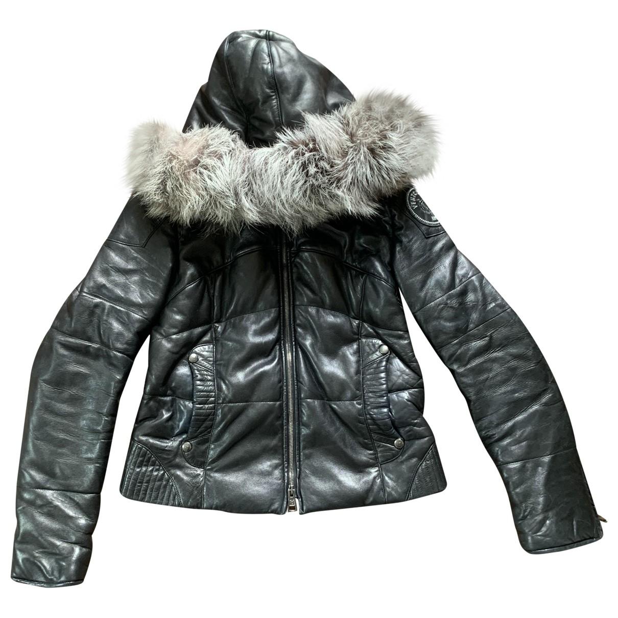 Ventcouvert \N Black Leather coat for Women 40 FR