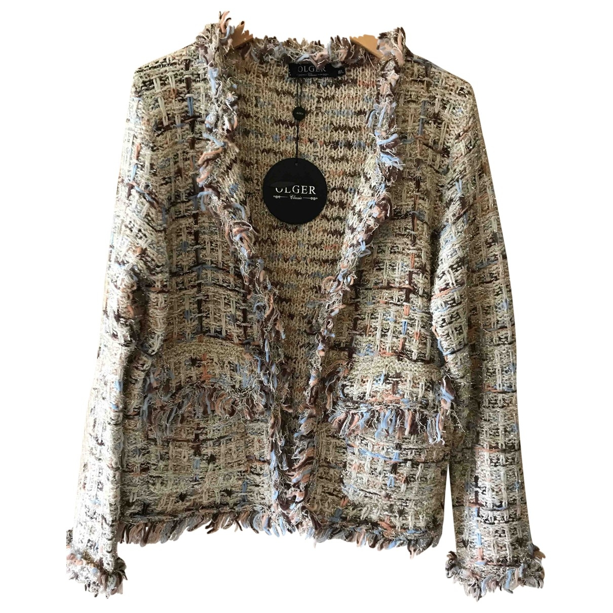 Non Signé / Unsigned \N Beige jacket for Women 38 FR