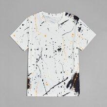 T-Shirt mit Tinten Muster