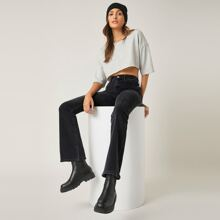 BLUES High-Waisted Dinner Date Flare Jeans