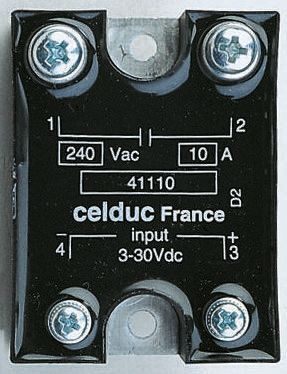 Celduc 12 A Solid State Relay, Zero Crossing, Panel Mount, Triac, 280 V rms Maximum Load