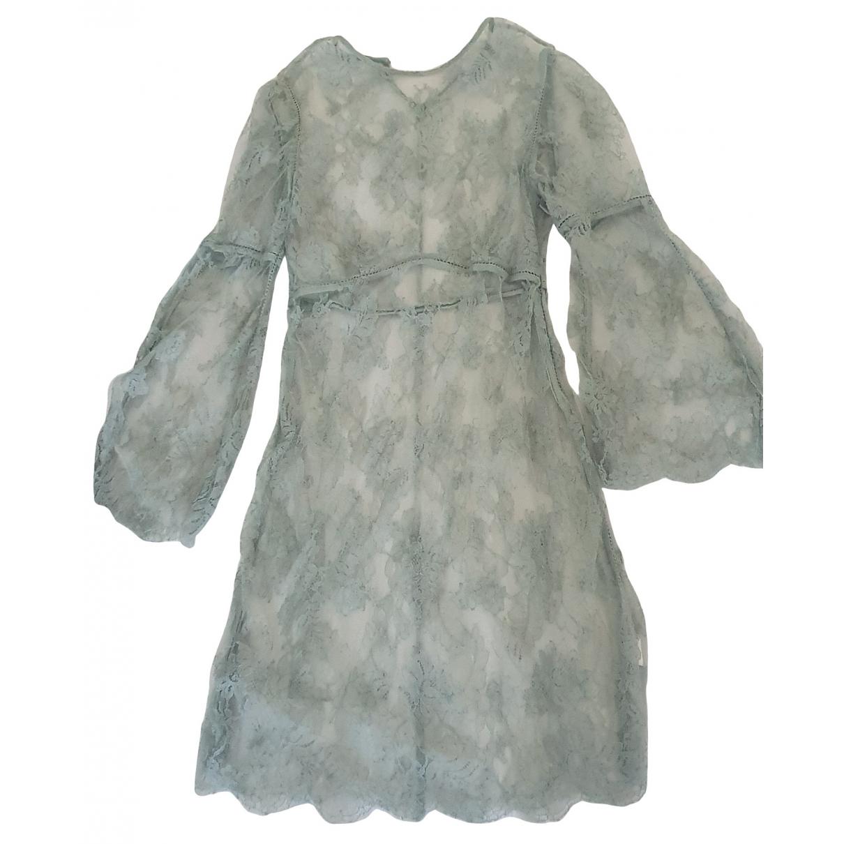 Zimmermann - Robe   pour femme en dentelle - bleu