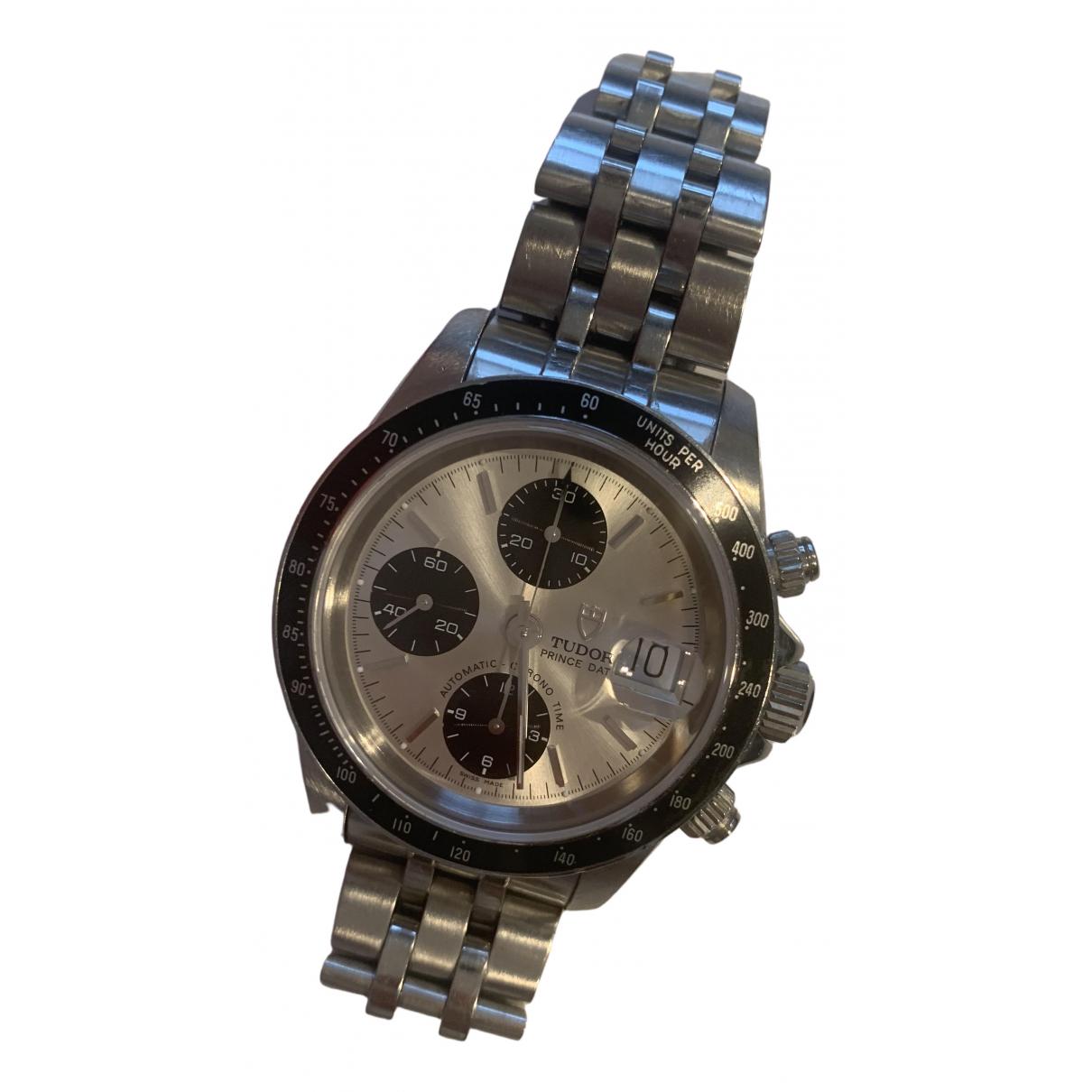 Tudor Tiger Prince Date Uhr in  Silber Stahl