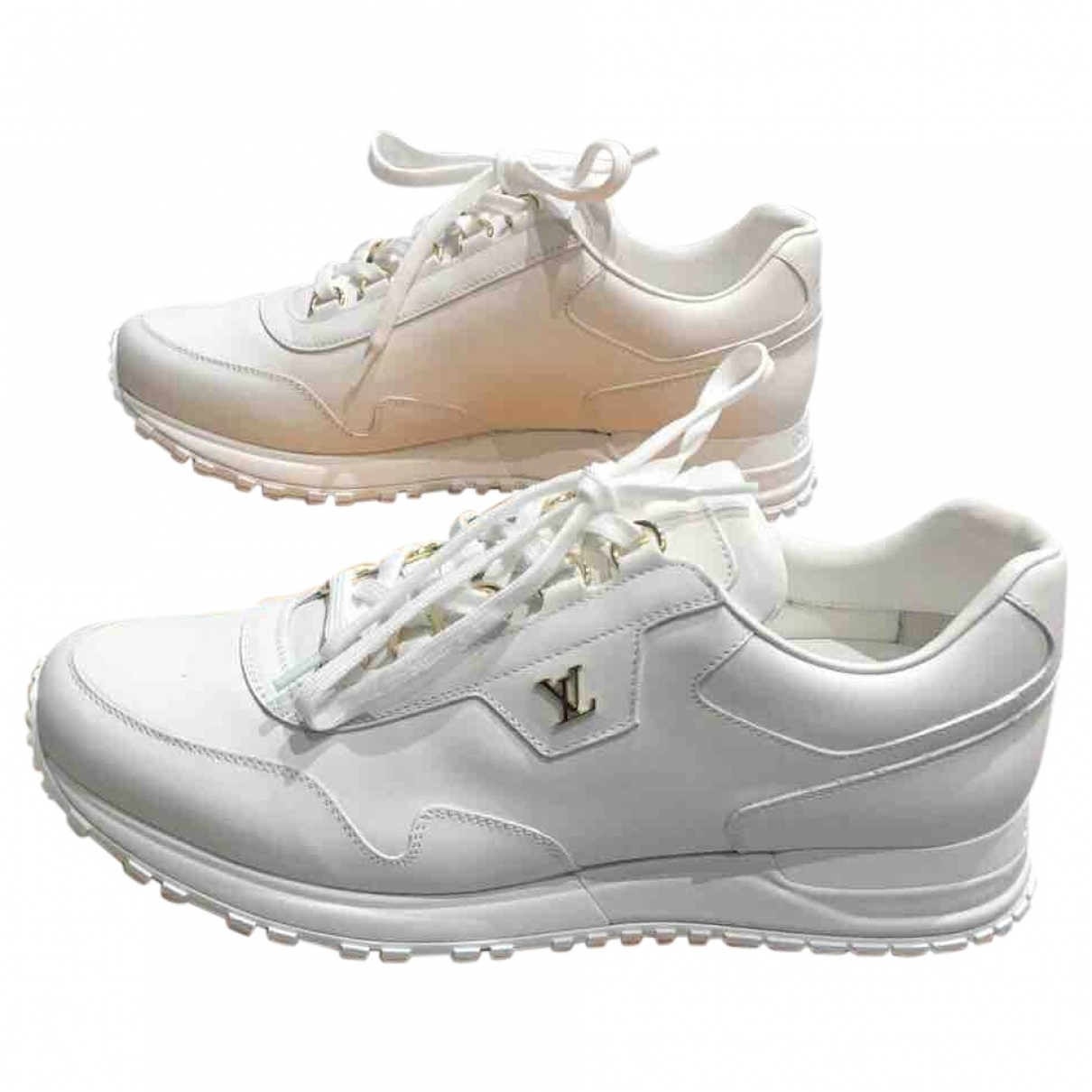 Louis Vuitton - Baskets Run Away pour homme en cuir - blanc