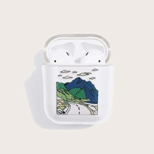 1pc Cartoon Graphic AirPods Case