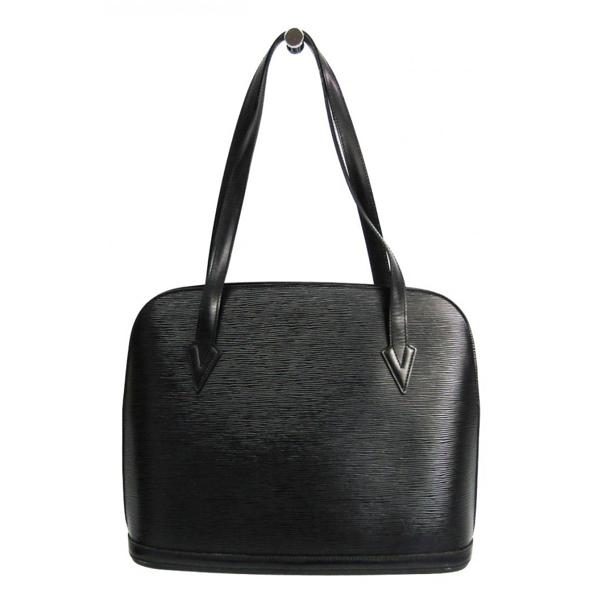Louis Vuitton - Sac a main Lussac pour femme en cuir - noir