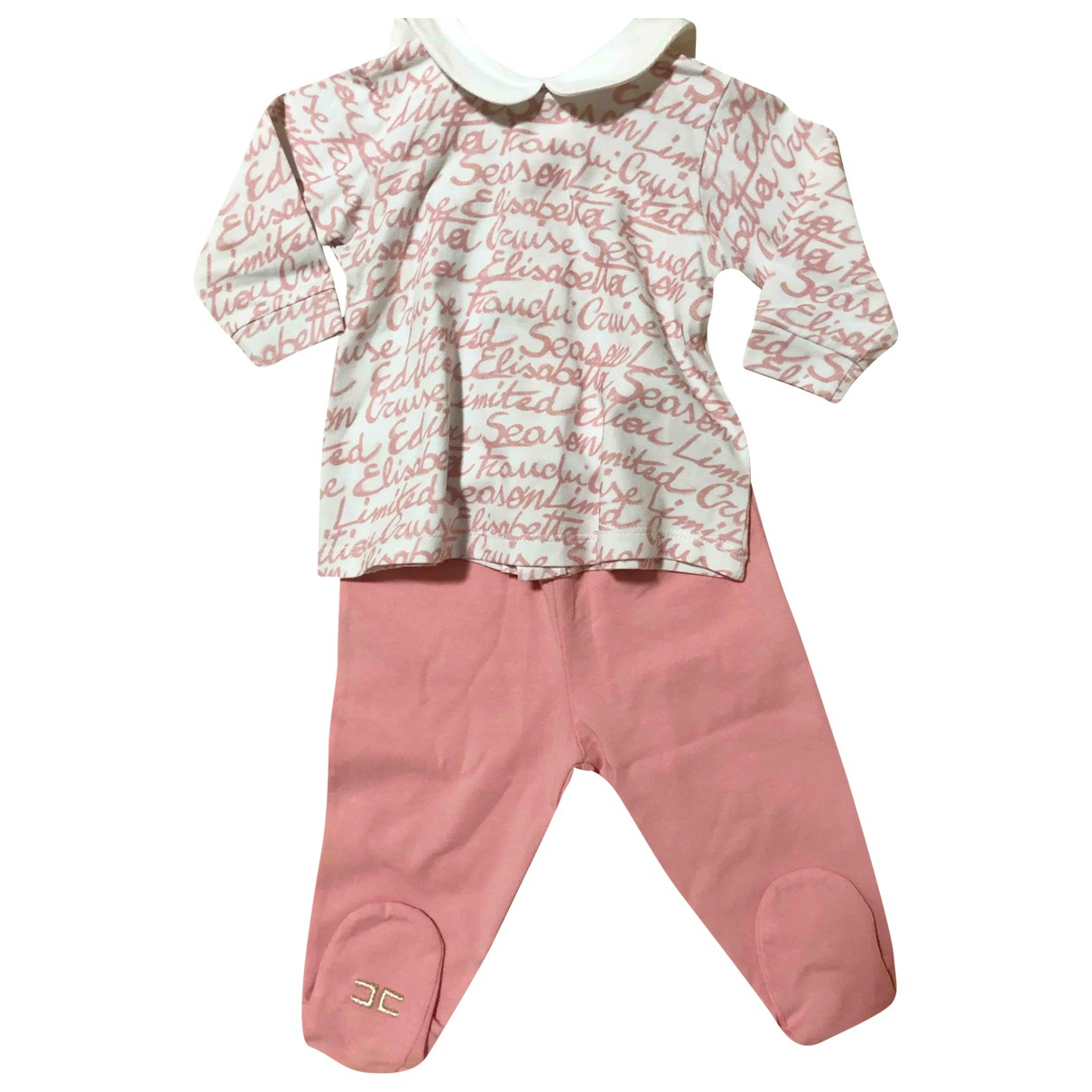 Elisabetta Franchi N Pink Cotton Outfits for Kids 3 months - up to 60cm FR