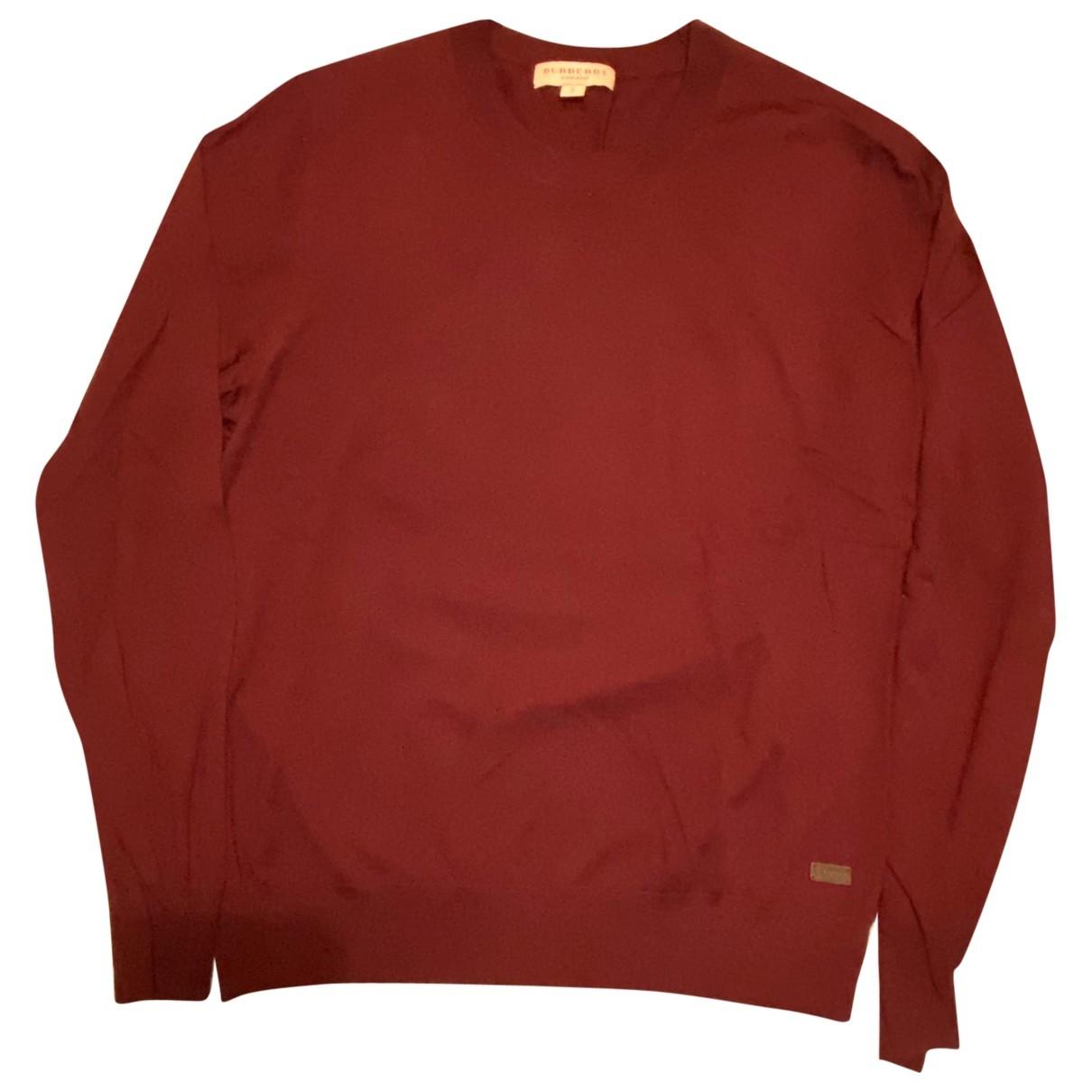 Burberry - Pulls.Gilets.Sweats   pour homme en laine - bordeaux