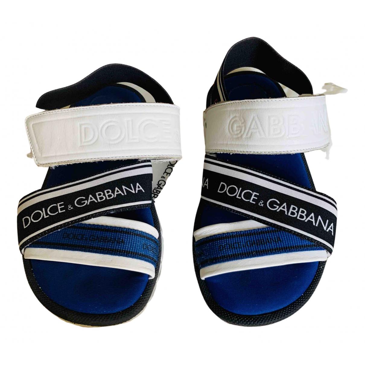 Dolce & Gabbana - Sandales   pour enfant en toile - bleu