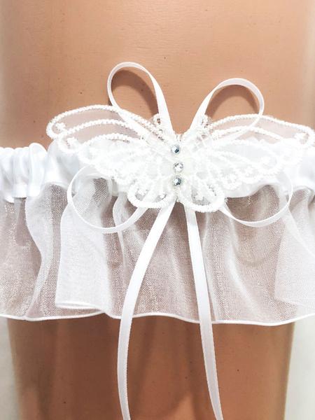 Milanoo Bridal Wedding Garter Fabulous Applique